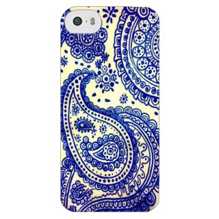 Stubborne White Paisley Pattern 3D Printed Apple Iphone 5C Back Cover / Case