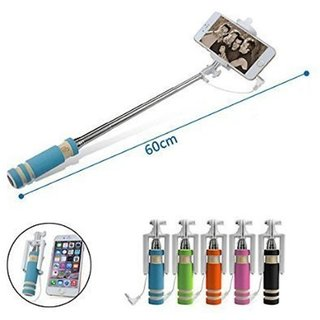 Jiyanshi Mini Selfie Stick (Pocket) Compatible with Micromax Canvas 2 Plus A110Q
