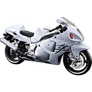 Maisto 118 Suzuki Die cast bike-White