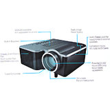 HIGH QUALITY Upgraded  Mini Portable LED Projector  VGA+ AV+SD+HDMI+ USB Input.. [CLONE]