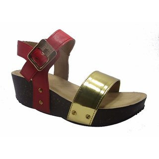 Sammy Women's Gold Velcro Sandals