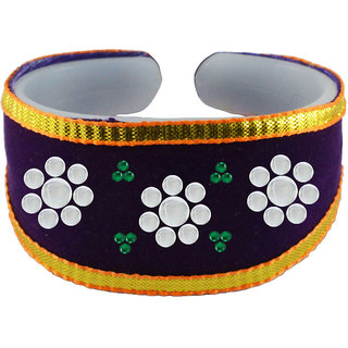 Vidhya kangan Purple Non Plated Bracelets  For Women