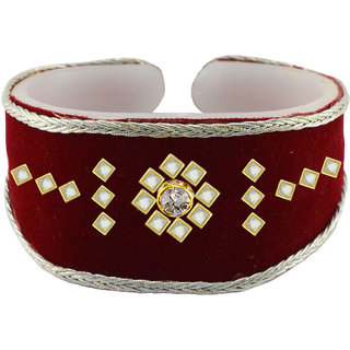 Vidhya kangan Maroon Non Plated Bracelets  For Women