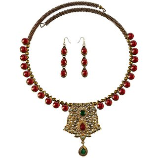 Vidhya Kangan Multicolor Necklace Set For Women-nec2373