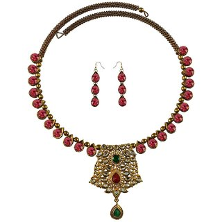 Vidhya Kangan Multicolor Necklace Set For Women-nec2376