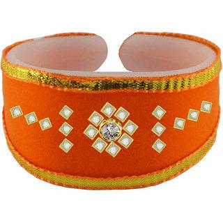 Vidhya kangan Orange Non Plated Bracelets  For Women