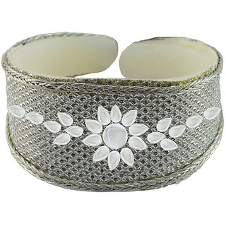 Vidhya kangan White Non Plated Bracelets  For Women