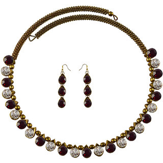 Vidhya Kangan Multicolor Necklace Set For Women-nec2106