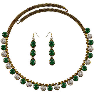 Vidhya Kangan Multicolor Necklace Set For Women-nec2108