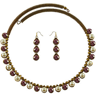 Vidhya Kangan Multicolor Necklace Set For Women-nec2118