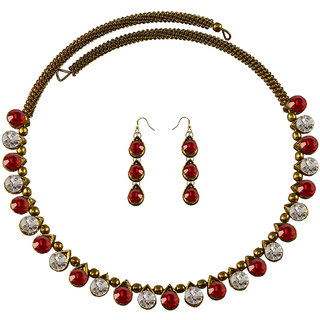 Vidhya Kangan Multicolor Necklace Set For Women-nec2123