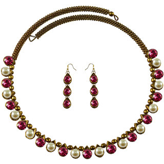 Vidhya Kangan Multicolor Necklace Set For Women-nec2126