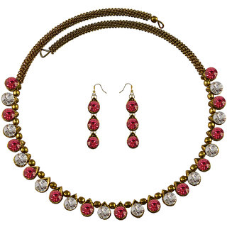 Vidhya Kangan Multicolor Necklace Set For Women-nec2129