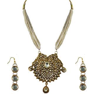 Vidhya Kangan Gold Necklace Set For Women-nec2149