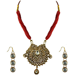 Vidhya Kangan Gold Necklace Set For Women-nec2152