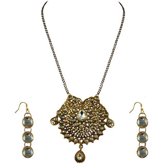 Vidhya Kangan Gold Necklace Set For Women-nec2153