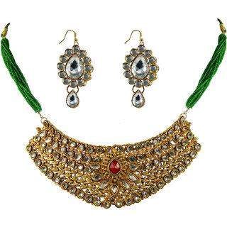 Vidhya Kangan Gold Necklace Set For Women-nec2155