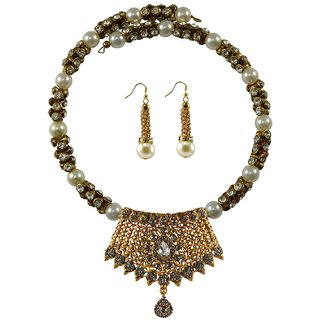 Vidhya Kangan Multicolor Necklace Set For Women-nec2388