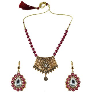 Vidhya Kangan Multicolor Necklace Set For Women-nec2577