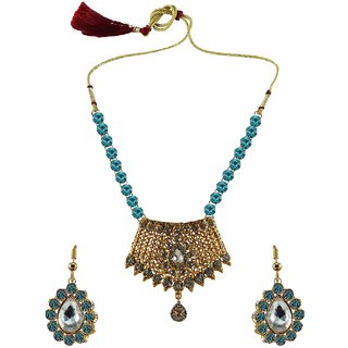 Vidhya Kangan Multicolor Necklace Set For Women-nec2578