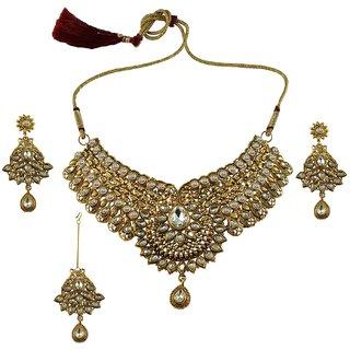 Vidhya Kangan Gold Necklace Set For Women-nec2579