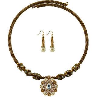 Vidhya Kangan Gold Necklace Set For Women-nec1843