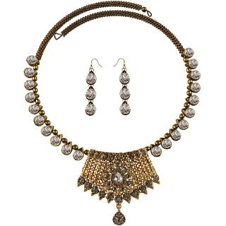 Vidhya Kangan Multicolor Necklace Set For Women-nec2390