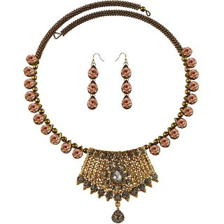 Vidhya Kangan Multicolor Necklace Set For Women-nec2394