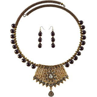 Vidhya Kangan Multicolor Necklace Set For Women-nec2396