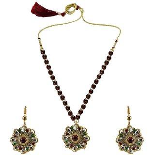 Vidhya Kangan Multicolor Necklace Set For Women-nec884