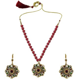 Vidhya Kangan Multicolor Necklace Set For Women-nec894