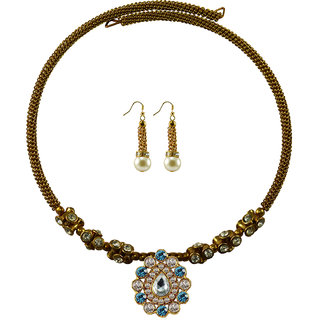 Vidhya Kangan Gold Necklace Set For Women-nec1854