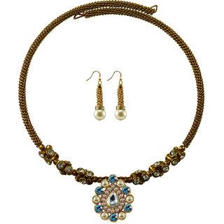 Vidhya Kangan Gold Necklace Set For Women-nec1855