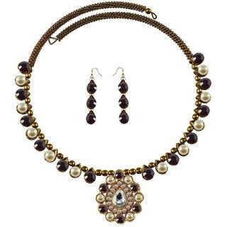 Vidhya Kangan Multicolor Necklace Set For Women-nec1922