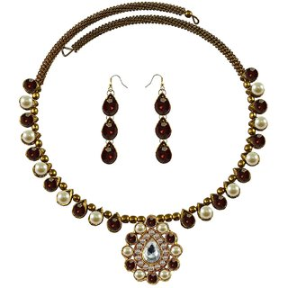 Vidhya Kangan Multicolor Necklace Set For Women-nec1932