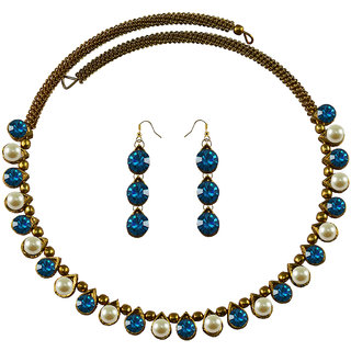 Vidhya Kangan Multicolor Necklace Set For Women-nec2089