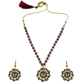 Vidhya Kangan Multicolor Necklace Set For Women-nec865
