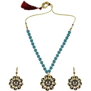 Vidhya Kangan Multicolor Necklace Set For Women-nec871