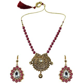 Vidhya Kangan Multicolor Necklace Set For Women-nec2548