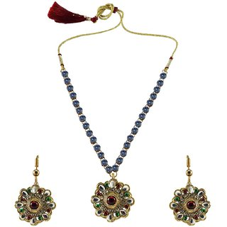 Vidhya Kangan Multicolor Necklace Set For Women-nec876