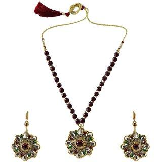 Vidhya Kangan Multicolor Necklace Set For Women-nec882