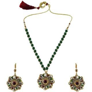 Vidhya Kangan Multicolor Necklace Set For Women-nec883