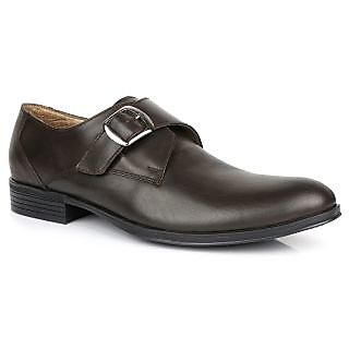bfa794b39 Escaro Mens Brown Slip on Monk Strap Shoe available at ShopClues for Rs.1759