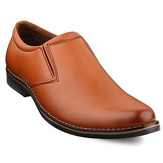 Escaro Men's Tan Slip on Smart Formals Shoe