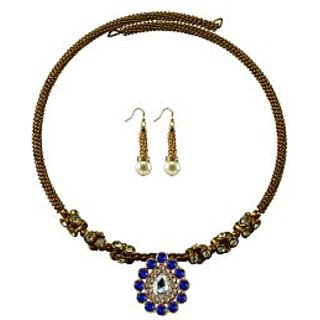 Vidhya Kangan Gold Necklace Set For Women-nec1883