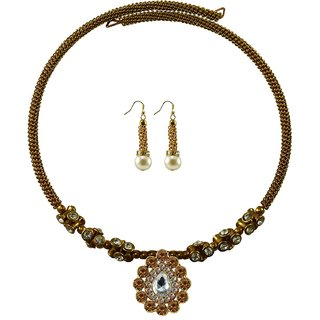 Vidhya Kangan Gold Necklace Set For Women-nec1889