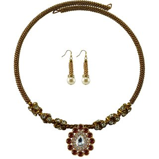 Vidhya Kangan Gold Necklace Set For Women-nec1896