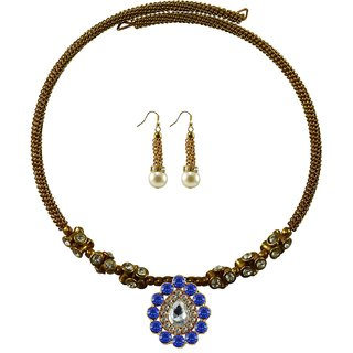 Vidhya Kangan Gold Necklace Set For Women-nec1898
