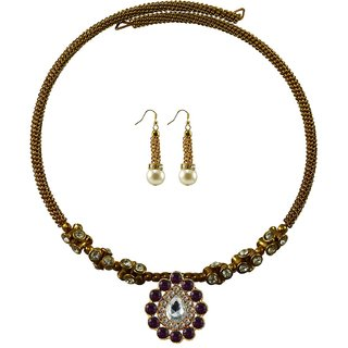 Vidhya Kangan Gold Necklace Set For Women-nec1900
