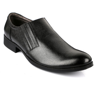 Escaro Men's Black Slip on Smart Formals Shoe